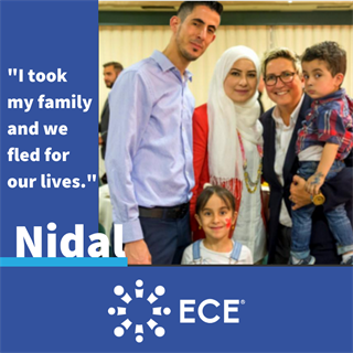 Nidal, ECE Aid recipient from Syria