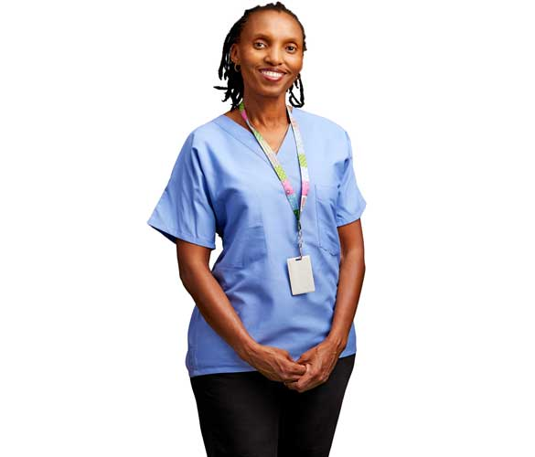 woman in scrubs